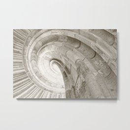 Sand stone spiral staircase 4 Metal Print