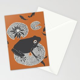 Frog on a Lily Pad Stationery Cards