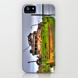 Mary D. Humes at the port of Gold Beach iPhone Case