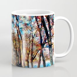 A vivid fall drive Coffee Mug