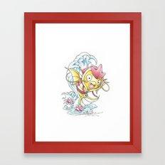 Something Seems a Little Fishy Framed Art Print
