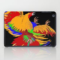 cock iPad Cases featuring Cock Fight by Saundra Myles