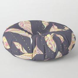 Feathers pattern abstract ornament Patrón de plumas ornamento abstracto Abstrakte Federmusters Floor Pillow