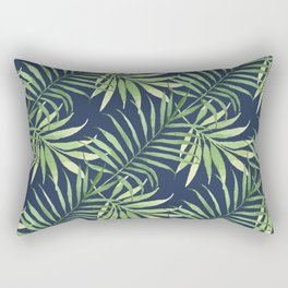 Tropical Branches on Dark Pattern 05 Rectangular Pillow