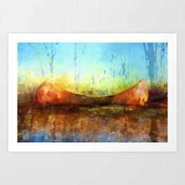 Birch Bark Canoe Art Print