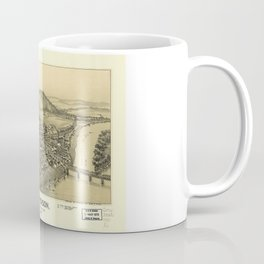 Aerial View of Patterson (Mifflin), Pennsylvania (1895) Coffee Mug