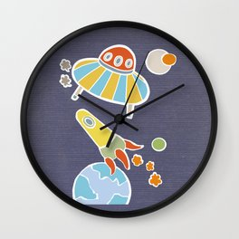 space flying Wall Clock