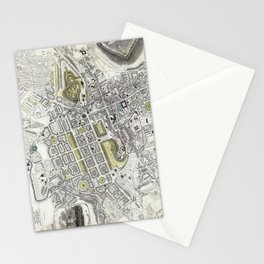 Plan of Edinburgh, Scotland - 1834 Stationery Cards