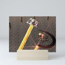 Squared: Hammer And Sickle Mini Art Print