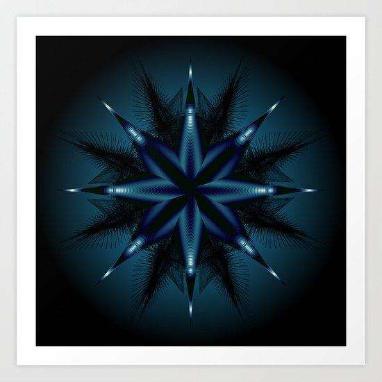 Evil Star Geometry Art Print