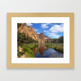 Smith Rock in Sun Framed Art Print