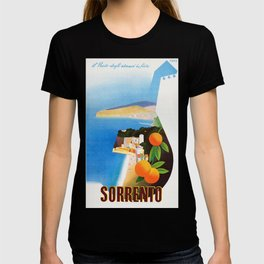 Vintage Sorrento Italy Travel Ad T-shirt