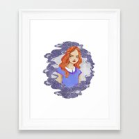 lydia martin Framed Art Prints featuring Lydia Martin by strangehats