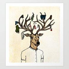Evicted deer Art Print
