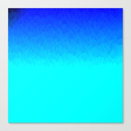 Electric Blue Ombre flames / Light Blue to Dark Blue Canvas Print