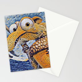 Ice Age Scrat Artistic Illustration Random Mosaic Style Stationery Cards