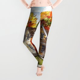 October on the Farm Leggings