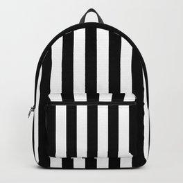 Large Black and White Cabana Stripe Backpack