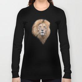 Closeup Portrait of a Male Lion Long Sleeve T-shirt