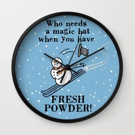 Fresh Powder! Wall Clock