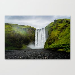 Skogafoss Waterfall Iceland Canvas Print