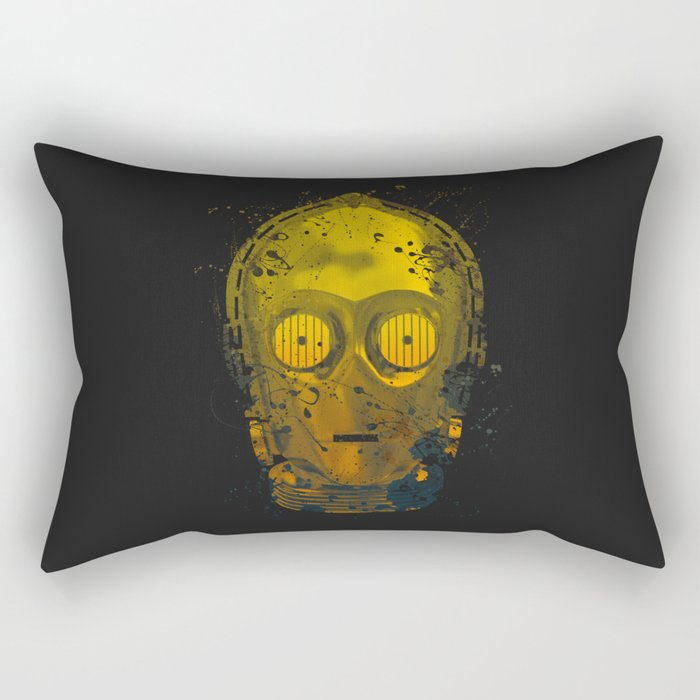 C3PO Splash Rectangular Pillow