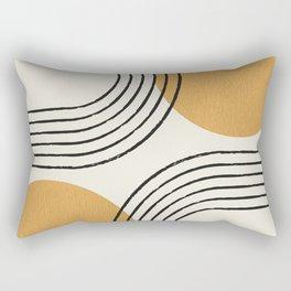 Sun Arch Double - Gold Rectangular Pillow