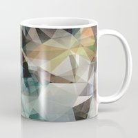 garfield Mugs featuring Abstract Grunge Triangles by Phil Perkins