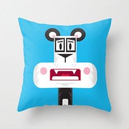 Cute Cartoon Panda Bear Throw Pillow
