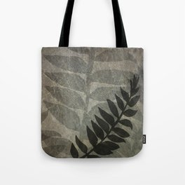 Pantone Hazelnut Abstract Grunge with Fern Leaf - Foliage Silhouettes Tote Bag