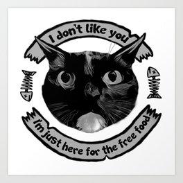 I don't like you... Art Print