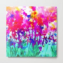 A Walk Among The Flowers 1i by Kathy Morton Stanion Metal Print