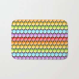 Rainbow Dotty Stripes Bath Mat
