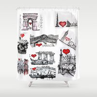 cities Shower Curtains featuring Cities 1  by sladja