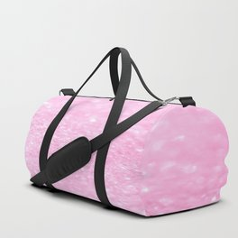 Pink Shiny Glitter Abstract Bokeh #decor #society6 Duffle Bag