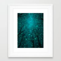 lights Framed Art Prints featuring One by One, the Infinite Stars Blossomed by soaring anchor designs