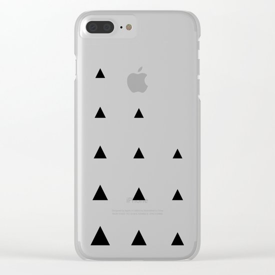 Black Triangles on Blush Clear iPhone Case