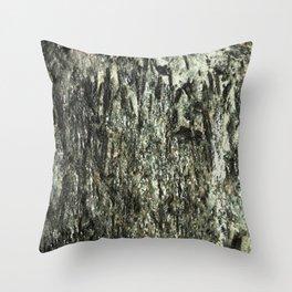 Green Fiber Throw Pillow