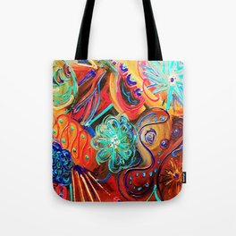 Last One- Lucky Wishbone/On Fire  Tote Bag