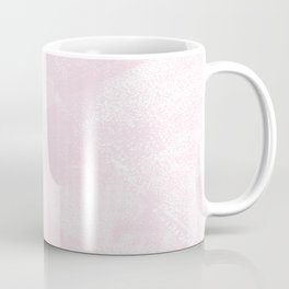 Pastel Pink and White Geometric Lino-Textured Print Coffee Mug