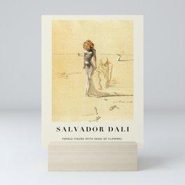 Poster-Salvador Dali-Female figure with head of flowers. Mini Art Print