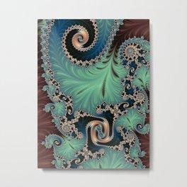 Azure - Fractal Art Metal Print