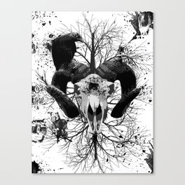 Wings and Horns of Death Canvas Print