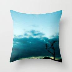 Dark Tree Throw Pillow