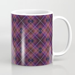 Black and Burgundy plaid Coffee Mug