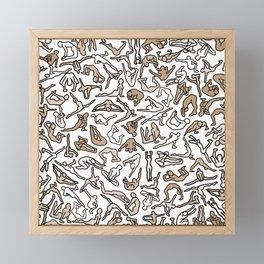 Bodies, Figures, Karate, Sepia Framed Mini Art Print