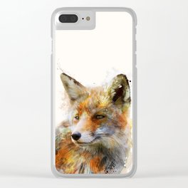 The cunning Fox Clear iPhone Case