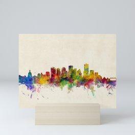 Edmonton Canada Skyline Mini Art Print