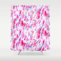 kandinsky Shower Curtains featuring Synesthete by Jacqueline Maldonado