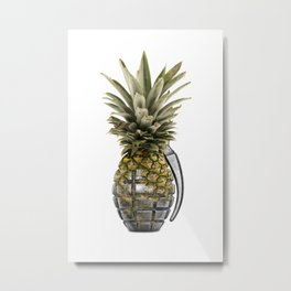 Pineapple Grenade Metal Print